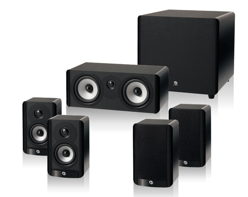 boston acoustics a 2310 hts 5 1 home theater speaker package with 100 watt powered. Black Bedroom Furniture Sets. Home Design Ideas