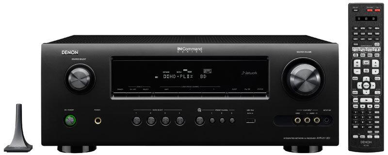 denon avr2112ci integrated network av surround receiver home audio theater. Black Bedroom Furniture Sets. Home Design Ideas