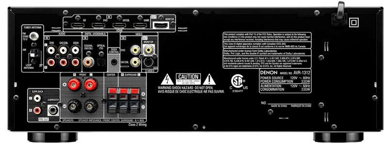 Amazon.com: Denon DHT-1312XP A/V Home Theater Receiver
