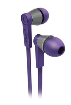 Philips CitiScape Underground in ear headset, purple (SHE5105PP/28) Product Shot