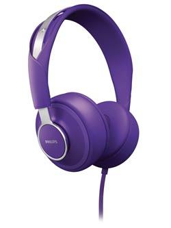 Philips CitiScape Downtown headset, purple (SHL5605PP/28) Product Shot
