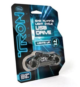 Tron: Legacy Light Cycle USB in packaging