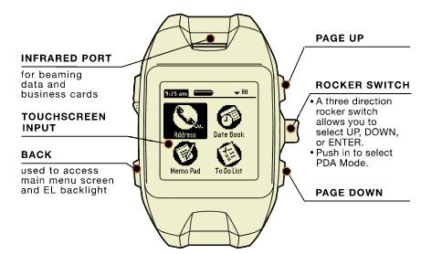 Amazon Com Fossil Abacus Au5006 Wrist Pda With Palm Os Brown