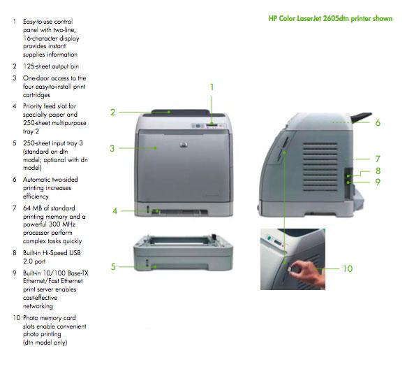 Скачать драйвер для принтера hp laserjet 2605