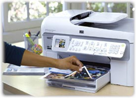 What brand of printer should I buy to print flyers using gloss paper?