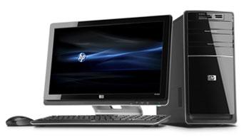 HP Pavilion p6710f PC Front View