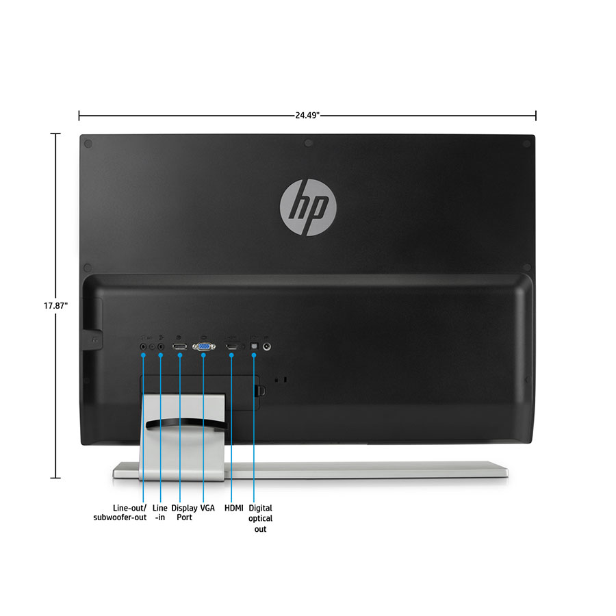 hp envy 27 inch screen led lit monitor computers accessories. Black Bedroom Furniture Sets. Home Design Ideas