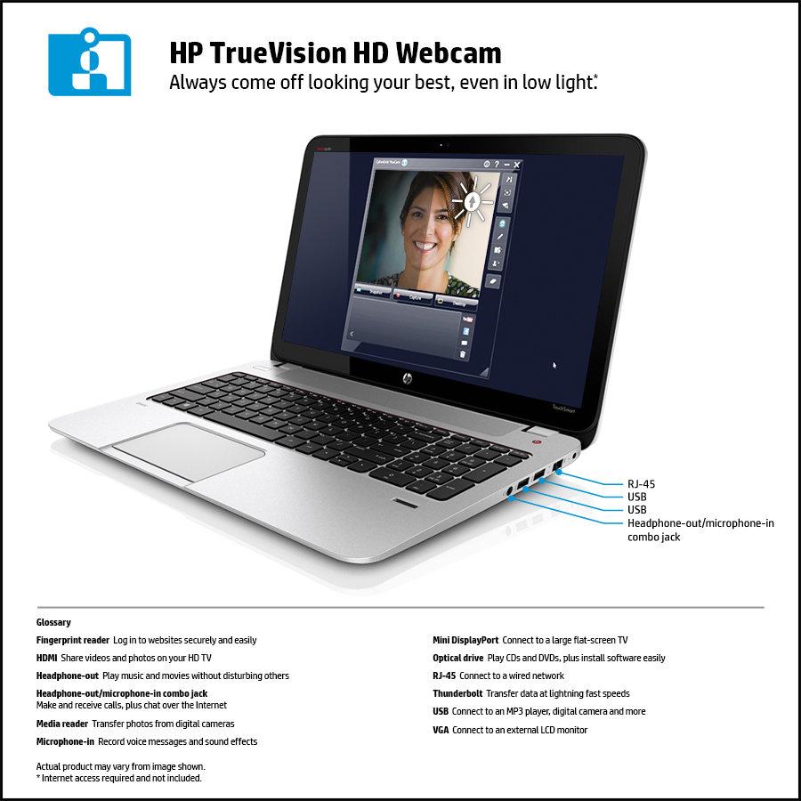Amazon HP Envy 15 J070us 156 Inch Touchscreen Laptop