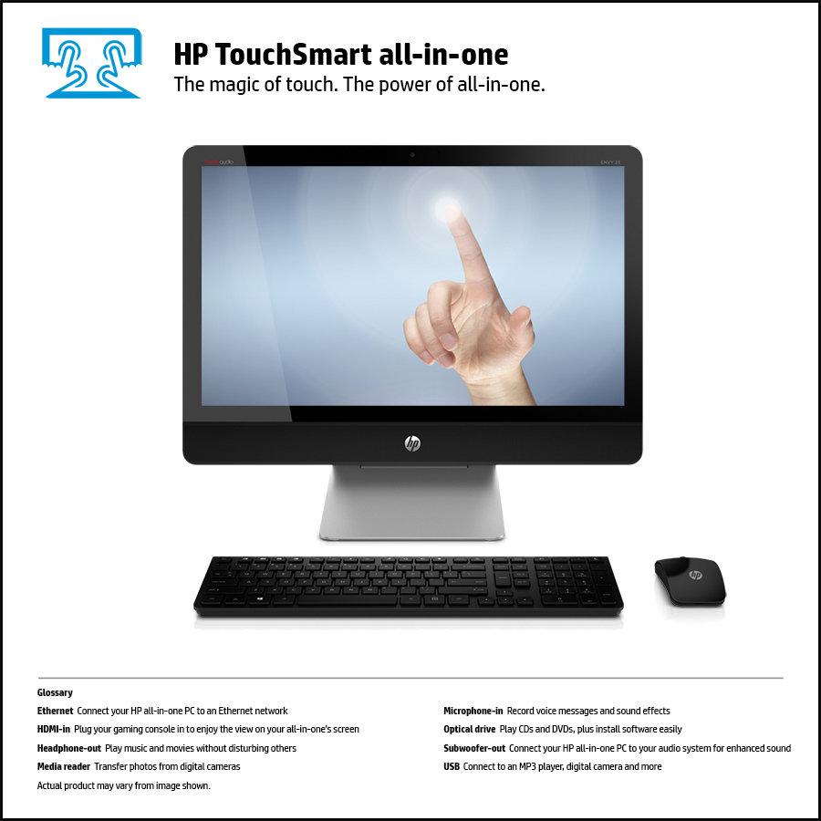 Hp Envy Recline Touchsmart 23 K210ne All In One Pc Silver