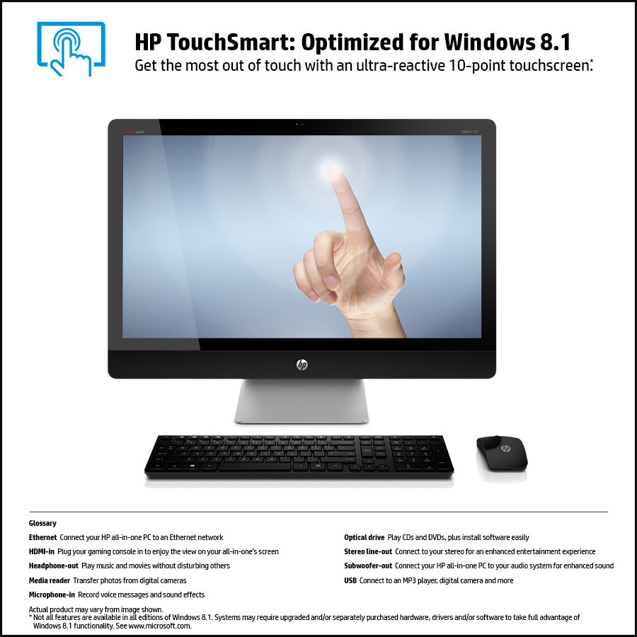 Amazon Com Hp Envy Recline 27 K150 27 Inch Touchsmart All