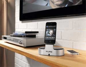 i-20 is the perfect way to connect your iPod or iPhone to your hi-fi system or HDTV.