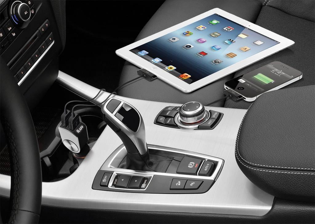 Amazon Com Iluv Iad630blk Dualpin Combo Dual Usb Car