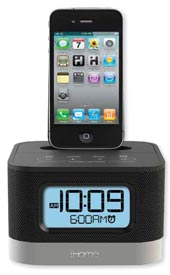 ihome ip10 stereo alarm clock speaker dock for 30 pin ipod iphone not compatible w. Black Bedroom Furniture Sets. Home Design Ideas