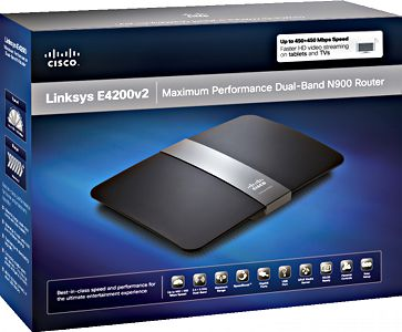 Linksys E4200v2 Wireless-N Router - box