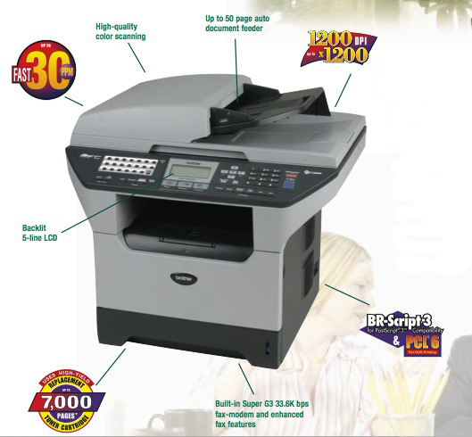 Brother MFC-8860DN Printer Driver PC