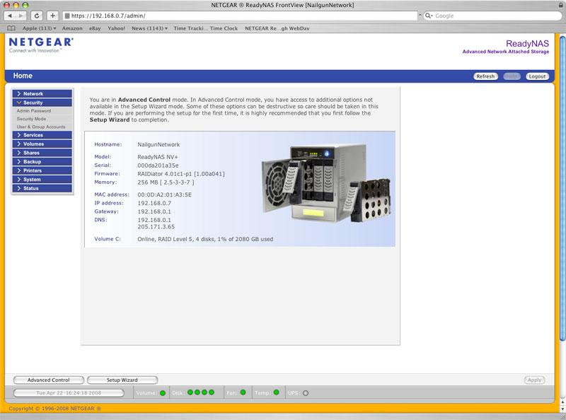 Amazon com: NETGEAR RND44751G ReadyNAS NV+ 3 0TB Gigabit
