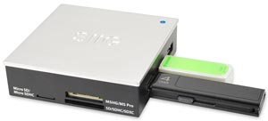 SIIG USB 3.0/2.0 Hub Card Reader