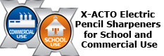 X-ACTO Electric Pencil Sharpeners for School/Commercial Use
