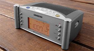 Amazon Sangean RCR 2 AM FM Atomic Clock Radio Silver Home