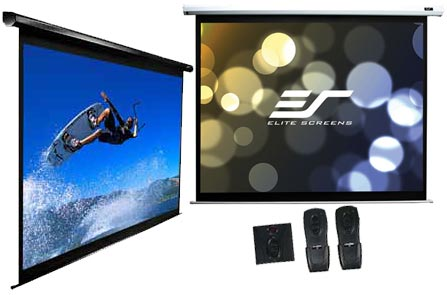 Elite screens vmax2 series electric drop down for Motorized drop down projector screen