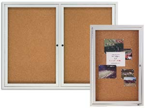 Amazoncom Quartet Outdoor Cork Bulletin Board Enclosed 4 x 3