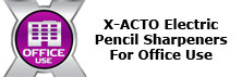X-ACTO Electric Pencil Sharpeners for Office Use