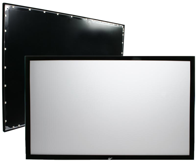 Elite Screens ER106WH1 Sable Frame Series Fixed Frame Projection ...