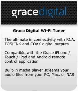Grace Digital Wi-Fi Tuner at a Glance