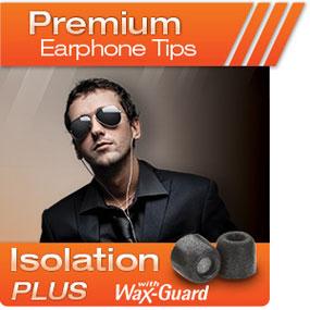 Comply Foam Premium Earphone Tips Isolation Plus Tx-Series