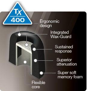 Comply Foam Premium Earphone Tips Isolation Plus Tx-400 Series