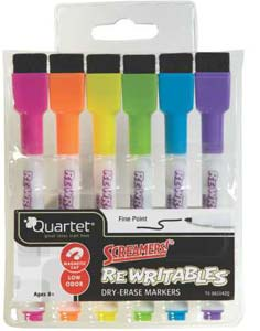 Amazon.com: Quartet Dry Erase Markers, ReWritables, Mini