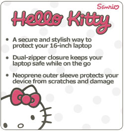"b4db3d0b6 Amazon.com: Hello Kitty 16"" Neoprene Sleeve For Notebook Computers ..."