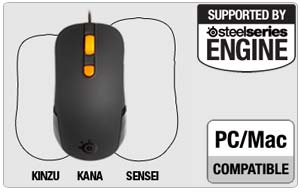 SteelSeries Kana Gaming Mouse, Black