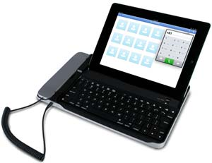 cta digital bluetooth keyboard with telephone handset for all ipad pad bkt. Black Bedroom Furniture Sets. Home Design Ideas