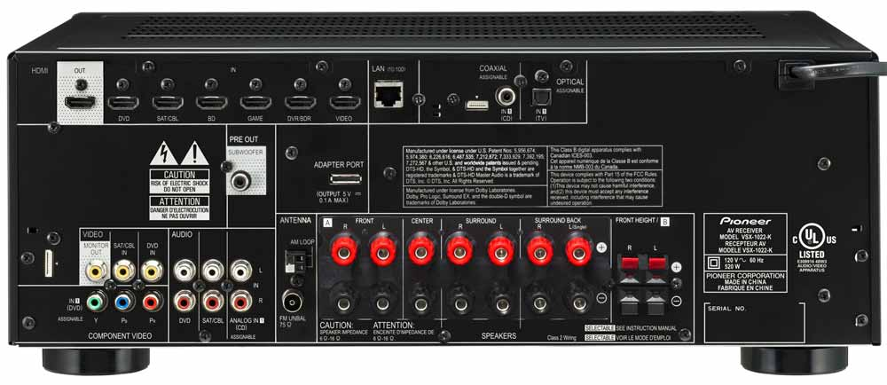 amazon com pioneer vsx 1022 k 560w 7 channel a v receiver network rh amazon com pioneer av receiver vsx-1022 manual Top Rated Pioneer Receivers