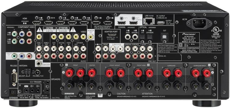 Amazoncom Pioneer Sc 1522 K 92 Channel Network Ready Av Receiver