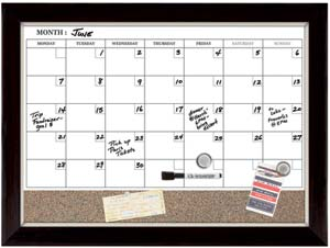 White Calendar Board Magnetic Whiteboard Dry Erase Wall Bulletin