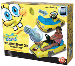 CTA Digital SpongeBob SquarePants Inflatable Sports Car for iPad Packaging