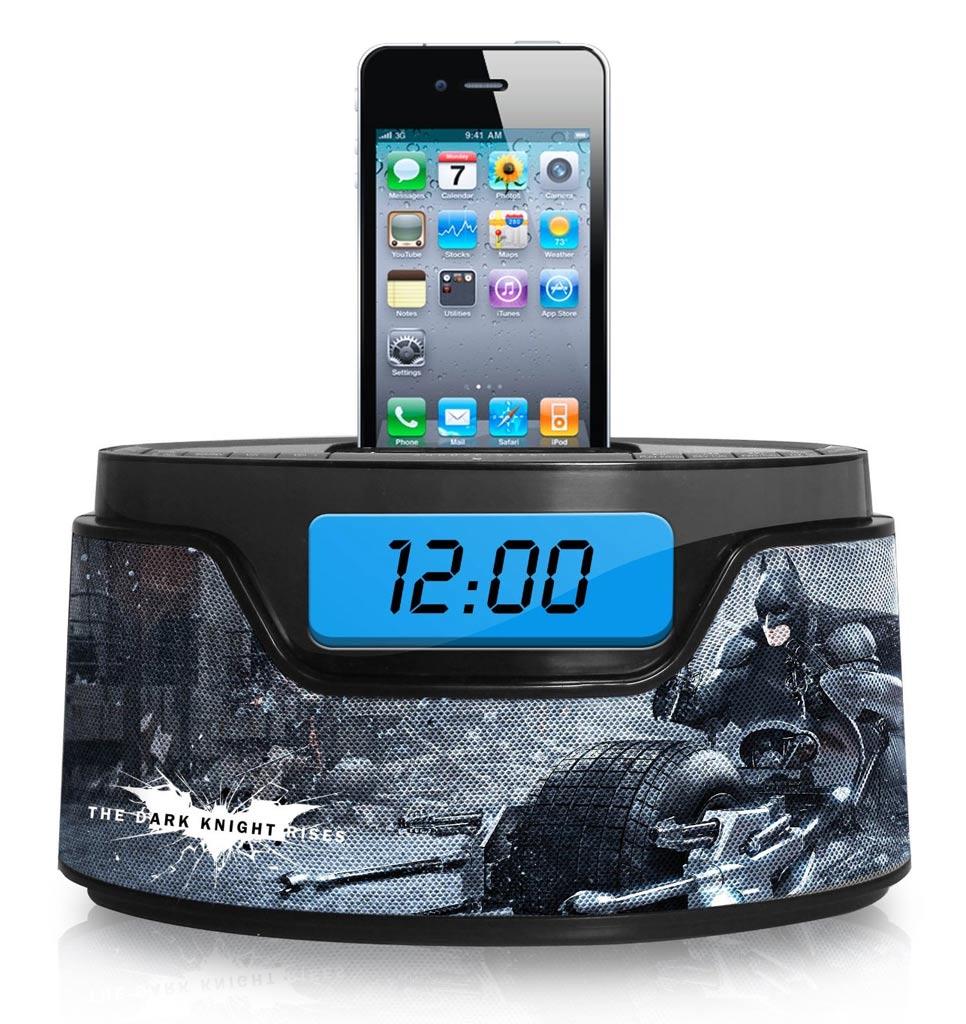 Amazon.com: Warner Brothers Batman iPod Clock Radio Dock (50283C-IPH ...