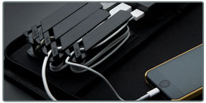 Portable Charging Station with Integrated 5200mAh from AviiQ