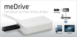Kanex meDrive File Server for iPad, iPhone, and Mac
