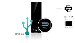 USB 3.0 for more flexibility
