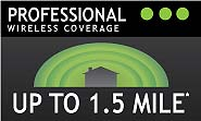 Amped Wireless Professional: Range of up to 1.5 miles