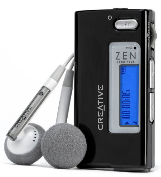 creative zen nano plus 1 gb mp3 player black mp3 players accessories. Black Bedroom Furniture Sets. Home Design Ideas