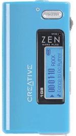 Amazon creative zen nano plus 1 gb mp3 player light blue the zen nano plus is incredibly thin and can store 500 songs on its 1 gb flash memory fandeluxe Gallery