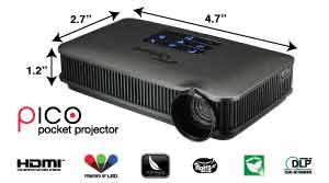 Optoma pk320 wvga dlp projector buy best price in uae for Miroir wvga dlp pico pocket projector