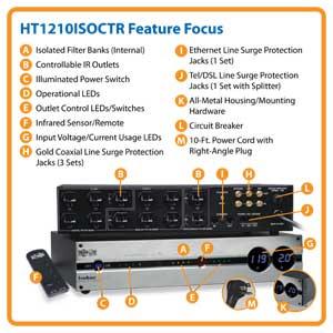Amazon Com Tripp Lite Ht1210isoctr Home Theater Isobar