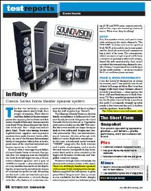 Click here to read Sound and Vision's review of Infinity Classia lodspeakers