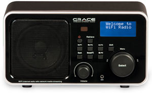 Front view of the Grace Digital Innovator II GDI-IR2000 Internet Radio