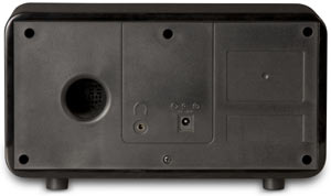 Back view of the Grace Digital Innovator II GDI-IR2000 Internet Radio